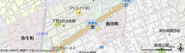 高橋北周辺の地図