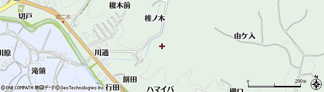 愛知県豊田市花沢町(餅田)周辺の地図