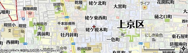 京都府京都市上京区姥ケ榎木町周辺の地図