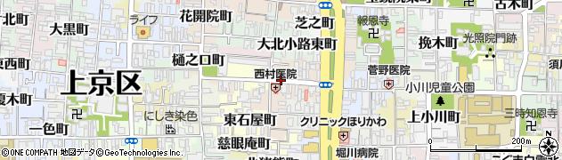 京都府京都市上京区芝薬師町周辺の地図