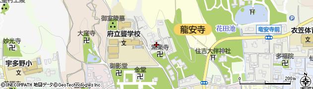 京都府京都市右京区龍安寺山田町周辺の地図