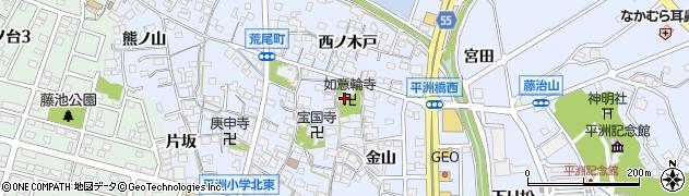 如意輪寺周辺の地図