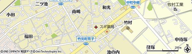 愛知県豊田市竹元町(上の山下)周辺の地図