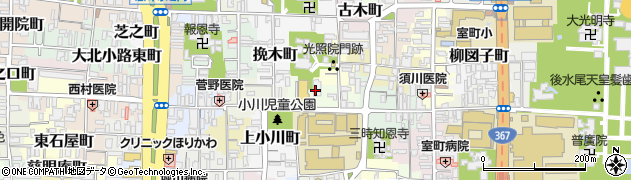 京都府京都市上京区西大路町周辺の地図