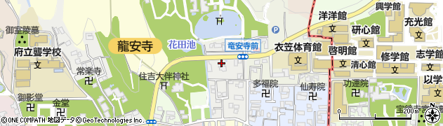 京都府京都市右京区龍安寺池ノ下町周辺の地図