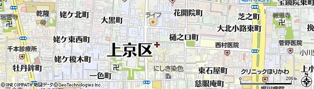 京都府京都市上京区硯屋町周辺の地図