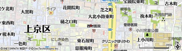京都府京都市上京区土田町周辺の地図