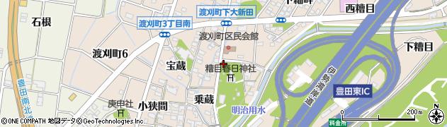愛知県豊田市渡刈町(北田)周辺の地図