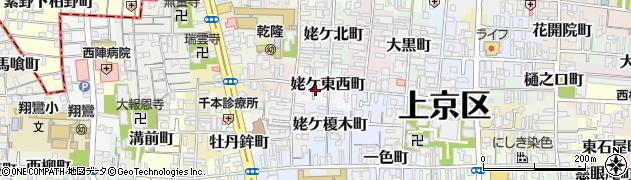 京都府京都市上京区姥ケ東西町周辺の地図