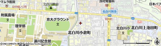 京都府京都市左京区北白川小倉町周辺の地図