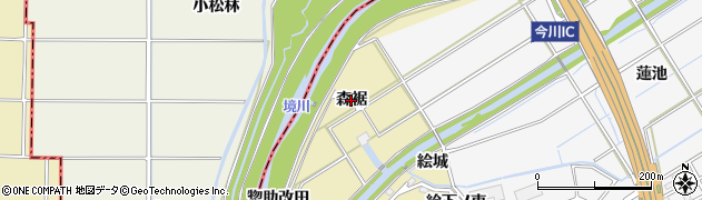 愛知県刈谷市泉田町(森裾)周辺の地図