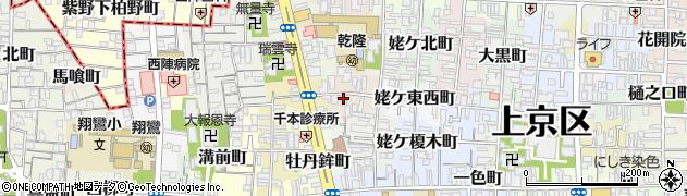 京都府京都市上京区姥ケ西町周辺の地図