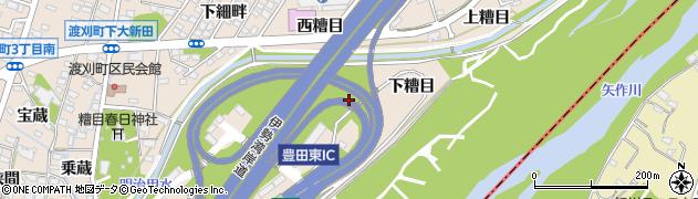 愛知県豊田市渡刈町周辺の地図