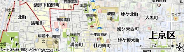 京都府京都市上京区作庵町周辺の地図