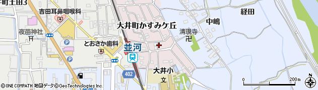 京都府亀岡市大井町かすみケ丘周辺の地図