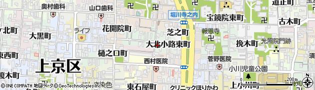 京都府京都市上京区大北小路東町周辺の地図
