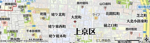 京都府京都市上京区大黒町周辺の地図