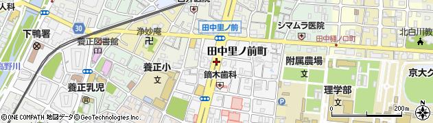 京都府京都市左京区田中里ノ前町周辺の地図