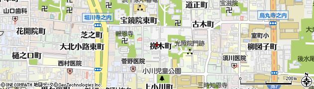京都府京都市上京区挽木町周辺の地図