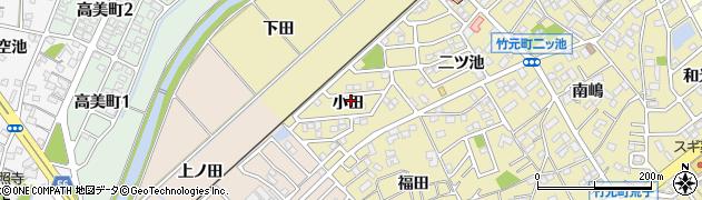 愛知県豊田市竹元町(小田)周辺の地図