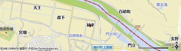 愛知県岡崎市細川町(柿平)周辺の地図