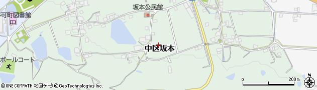兵庫県多可町(多可郡)中区坂本周辺の地図
