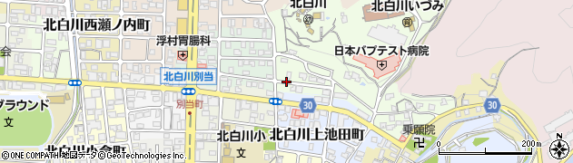 京都府京都市左京区北白川山ノ元町周辺の地図