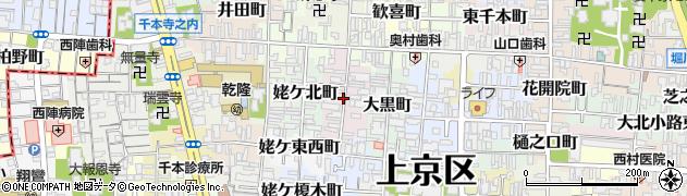 京都府京都市上京区真倉町周辺の地図