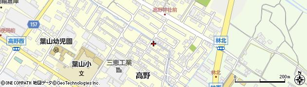 滋賀県栗東市高野周辺の地図