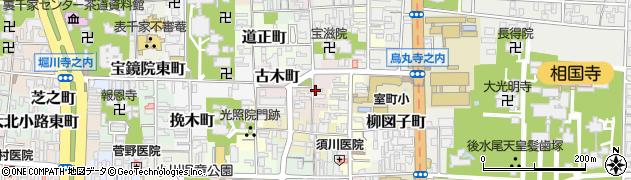 京都府京都市上京区木下突抜町周辺の地図