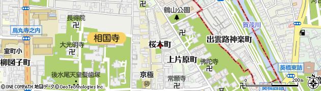 京都府京都市上京区桜木町周辺の地図
