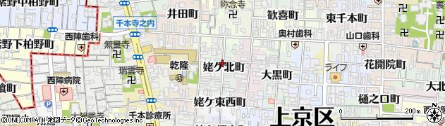 京都府京都市上京区姥ケ北町周辺の地図