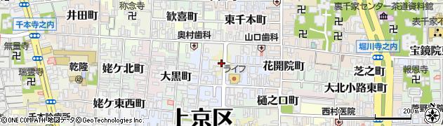 京都府京都市上京区古美濃部町周辺の地図
