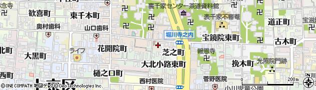京都府京都市上京区東西町周辺の地図