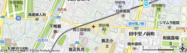 京都府京都市左京区田中上玄京町周辺の地図