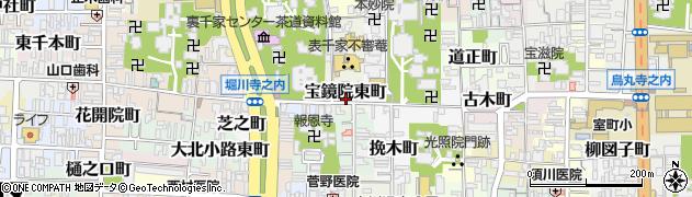 京都府京都市上京区宝鏡院東町周辺の地図