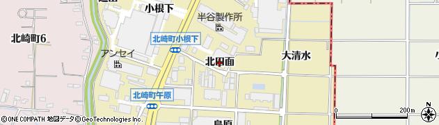 愛知県大府市北崎町(北田面)周辺の地図