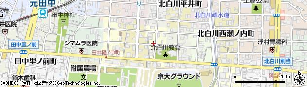 京都府京都市左京区北白川西蔦町周辺の地図