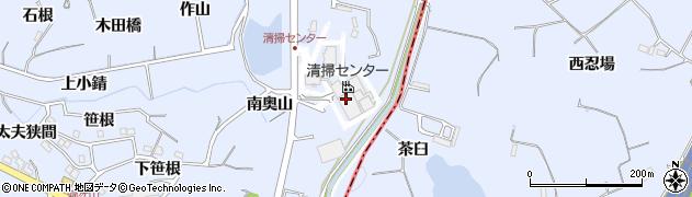 愛知県東海市荒尾町(奥山)周辺の地図