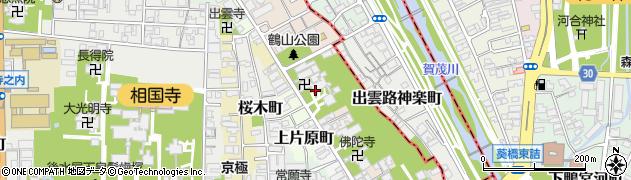 京都府京都市上京区鶴山町周辺の地図