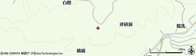 愛知県豊田市滝脇町(横根)周辺の地図