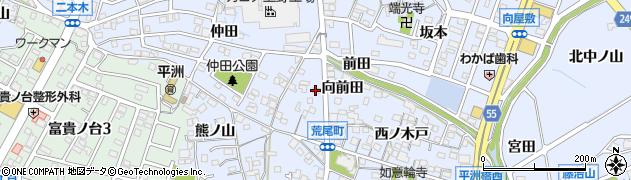 愛知県東海市荒尾町(向前田)周辺の地図