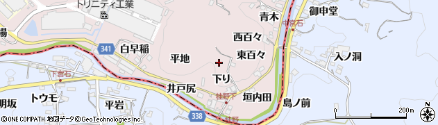 愛知県豊田市桂野町(下り)周辺の地図