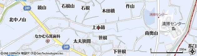 愛知県東海市荒尾町(上小錆)周辺の地図