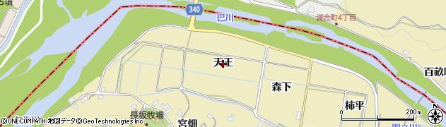 愛知県岡崎市細川町(天王)周辺の地図