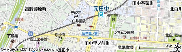 京都府京都市左京区田中里ノ内町周辺の地図