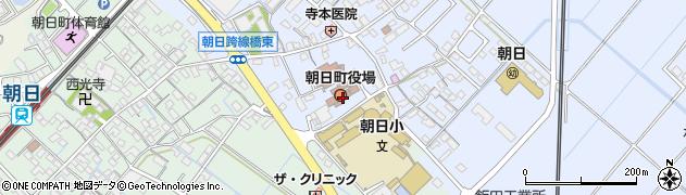 三重県三重郡朝日町周辺の地図
