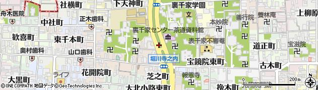 京都府京都市上京区寺之内竪町周辺の地図