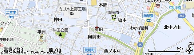 愛知県東海市荒尾町(前田)周辺の地図