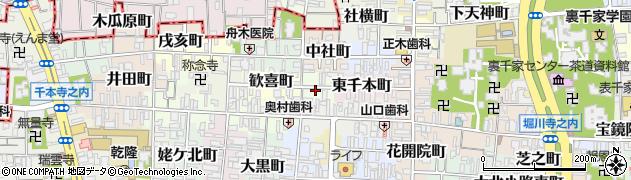 京都府京都市上京区西千本町周辺の地図
